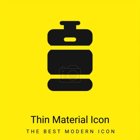 Beer Keg minimal bright yellow material icon