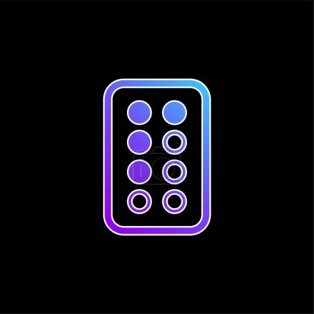 Illustration for Antibiotic blue gradient vector icon - Royalty Free Image