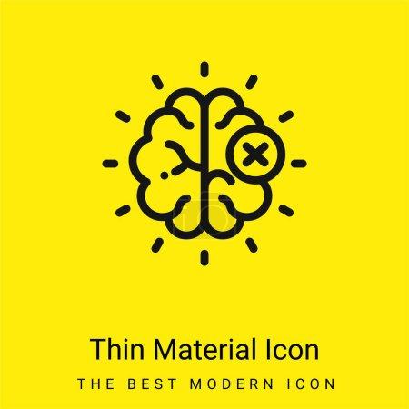 Photo pour Cerveau minimal jaune vif icône matérielle - image libre de droit