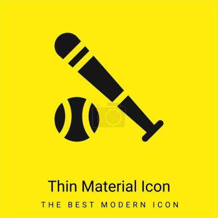 Illustration for Baseball Bat minimal bright yellow material icon - Royalty Free Image