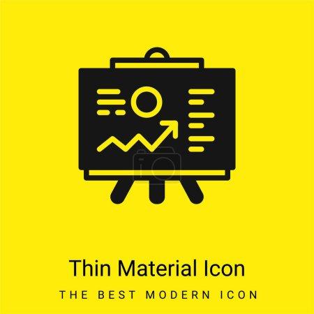 Illustration pour Analytique minimale jaune vif icône matérielle - image libre de droit