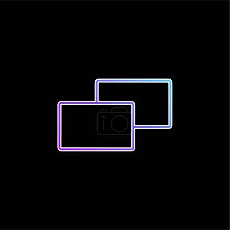 Photo pour Icône vectorielle de dégradé bleu 2 carrés - image libre de droit