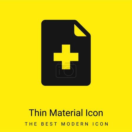 Illustration pour Ajouter Fichier minimal jaune vif icône matérielle - image libre de droit