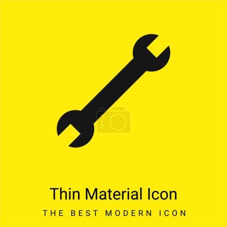 Illustration pour Clé réglable minimale icône de matériau jaune vif - image libre de droit