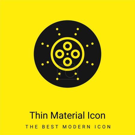 Illustration pour Rupture minimale icône de matériau jaune vif - image libre de droit