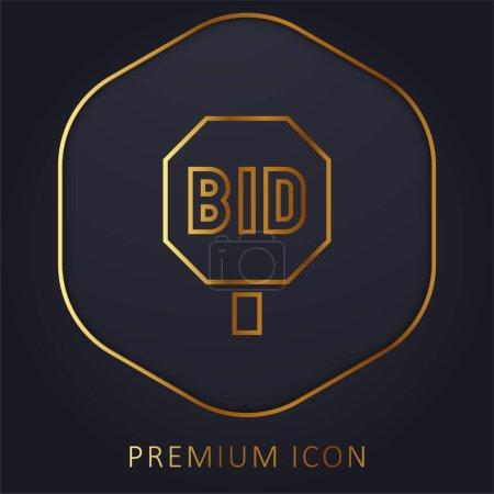 Illustration pour Soumissionner ligne d'or logo premium ou icône - image libre de droit