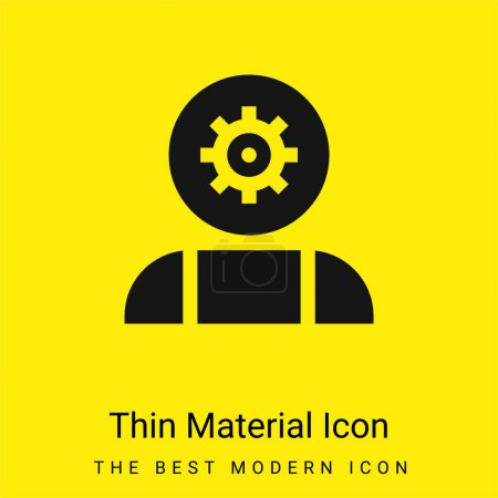 Photo for Artificial Intelligence minimal bright yellow material icon - Royalty Free Image