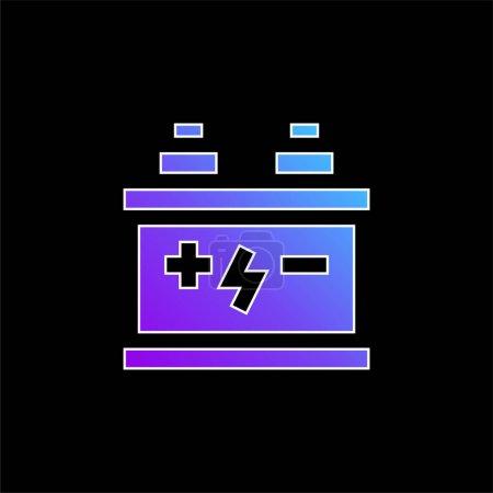 Illustration pour Icône vectorielle de dégradé bleu batterie - image libre de droit