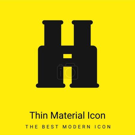 Illustration pour Jumelles minime icône de matériau jaune vif - image libre de droit