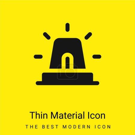 Illustration pour Alarme minimale icône de matériau jaune vif - image libre de droit