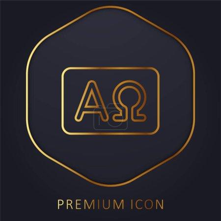 Alpha And Omega golden line premium logo or icon