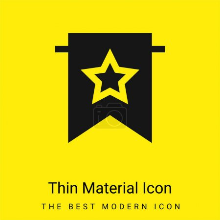 Illustration for Bookmark minimal bright yellow material icon - Royalty Free Image