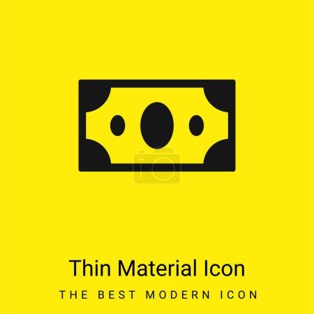 Illustration pour Big Paper Bill minime icône matériau jaune vif - image libre de droit