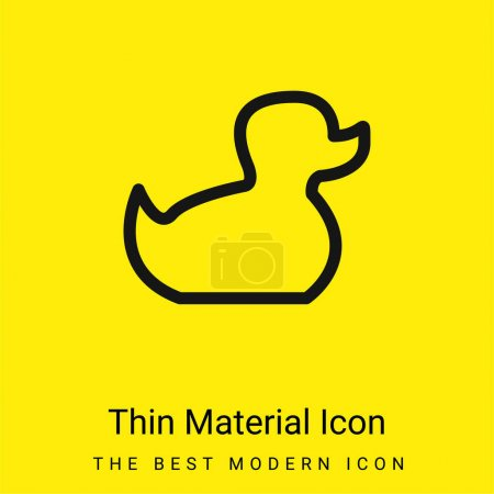 Foto de Baby Duck Toy Outline icono de material amarillo brillante mínimo - Imagen libre de derechos