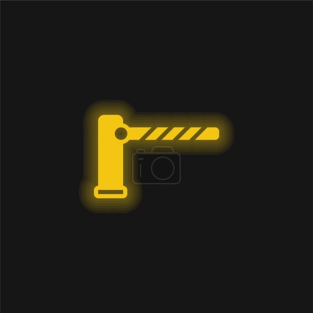 Barrier yellow glowing neon icon