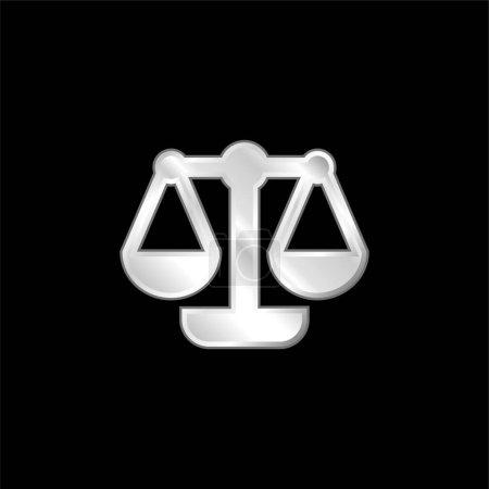Illustration pour Balance argent plaqué icône métallique - image libre de droit