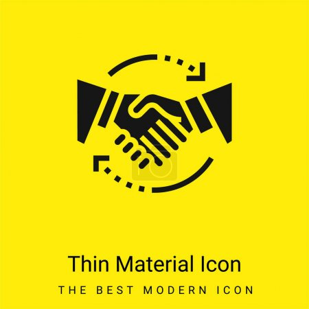 Illustration for Agreement minimal bright yellow material icon - Royalty Free Image