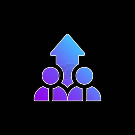 Illustration pour Icône vectorielle de dégradé bleu ascendant - image libre de droit