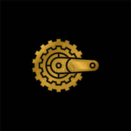 Photo pour Vélo plaqué or icône métallique ou logo vecteur - image libre de droit
