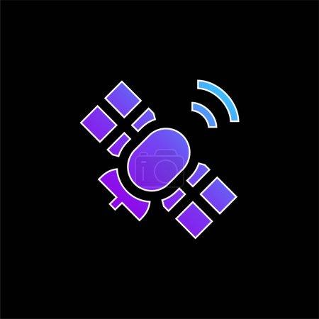 Illustration pour Icône vectorielle de gradient bleu antenne - image libre de droit