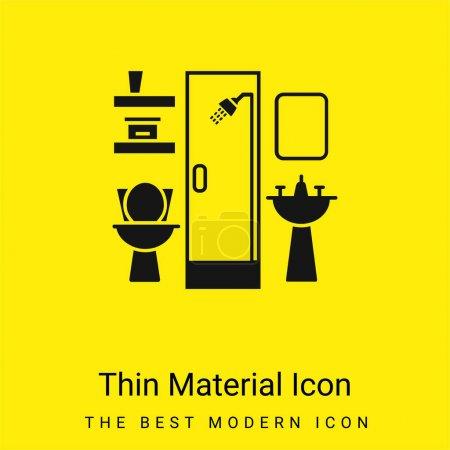 Bathroom Furniture minimal bright yellow material icon