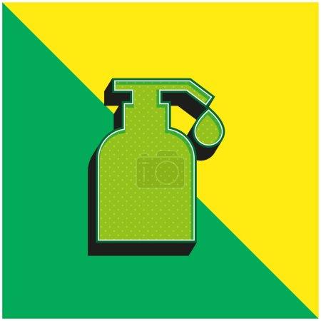 Illustration pour Huile corporelle Logo vectoriel 3D moderne vert et jaune - image libre de droit