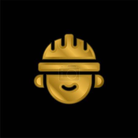 Photo pour Architecte icône métallique plaqué or ou logo vecteur - image libre de droit