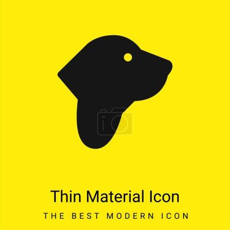 Illustration pour Basset Hound minimal jaune vif icône matérielle - image libre de droit