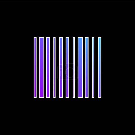 Illustration pour Code à barres icône vectorielle dégradée bleue - image libre de droit