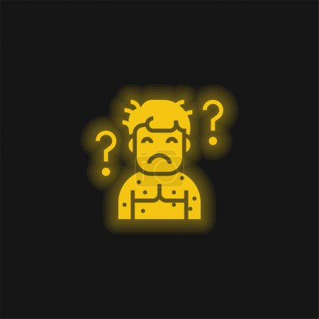 Illustration for Abnormal yellow glowing neon icon - Royalty Free Image