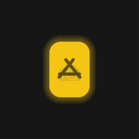 Apps Store yellow glowing neon icon