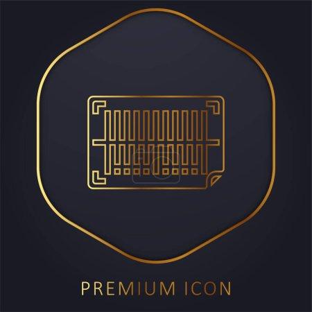 Illustration pour Code à barres ligne d'or logo premium ou icône - image libre de droit