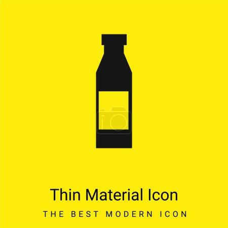 Illustration pour Bouteille avec étiquette minimale jaune vif icône matérielle - image libre de droit