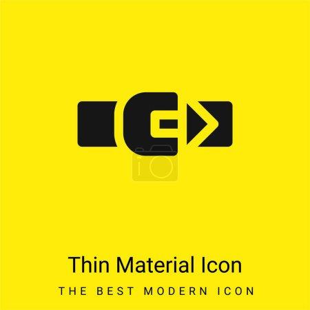 Belt minimal bright yellow material icon