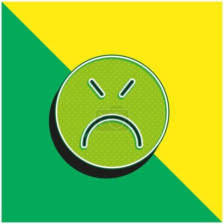 Illustration pour Angry Green et jaune logo vectoriel 3d moderne icône - image libre de droit