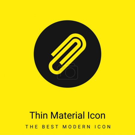 Illustration for Attachment minimal bright yellow material icon - Royalty Free Image
