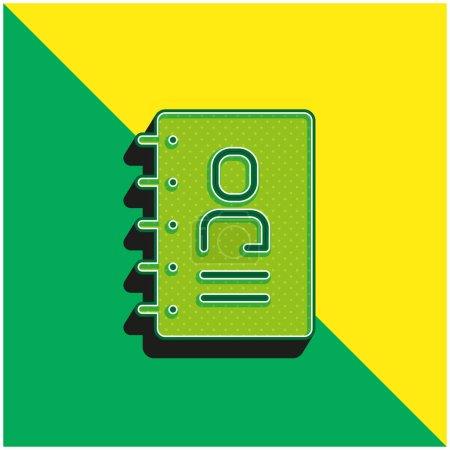 Illustration pour Adresse Logo vectoriel 3d moderne vert et jaune - image libre de droit