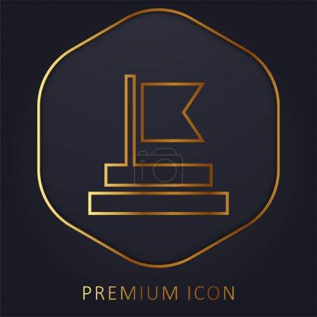 Illustration pour Réalisation ligne d'or logo premium ou icône - image libre de droit