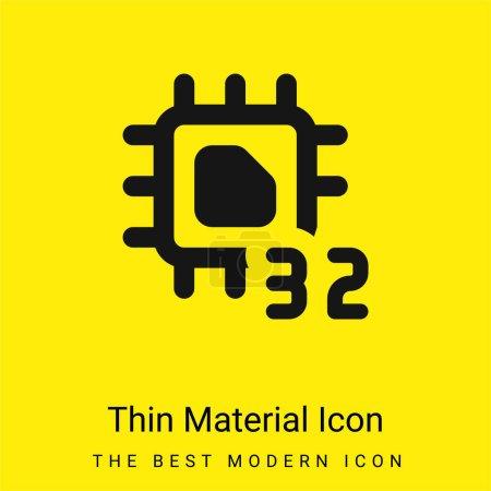 Illustration pour Icône matérielle jaune vif minimale de 32 bits - image libre de droit
