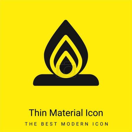 Illustration pour Bonfire minime icône de matériau jaune vif - image libre de droit