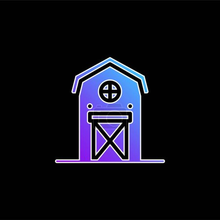 Illustration for Barn blue gradient vector icon - Royalty Free Image