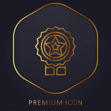 Illustration for Best Seller golden line premium logo or icon - Royalty Free Image