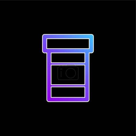 Illustration pour Bouteille de pilules icône vectorielle dégradé bleu - image libre de droit