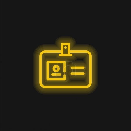 Illustration for Access Card yellow glowing neon icon - Royalty Free Image