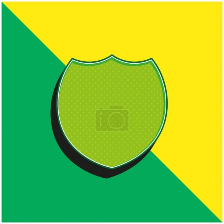 Illustration for Black Badge Green and yellow modern 3d vector icon logo - Royalty Free Image