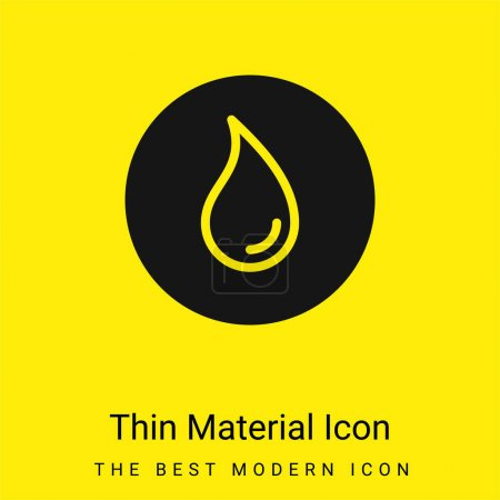 Illustration for Blur minimal bright yellow material icon - Royalty Free Image