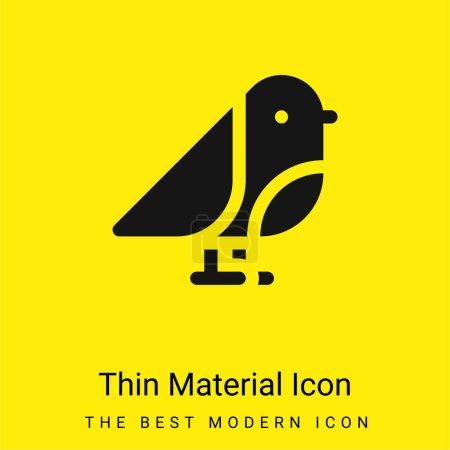 Photo pour Oiseau minimal jaune vif icône matérielle - image libre de droit