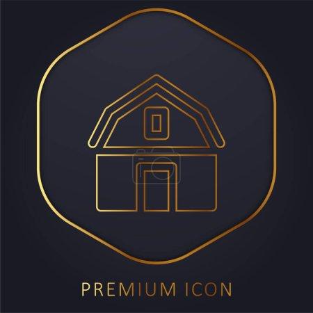 Barn golden line premium logo or icon