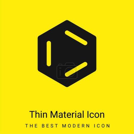 Photo pour Benzène minimal icône de matériau jaune vif - image libre de droit