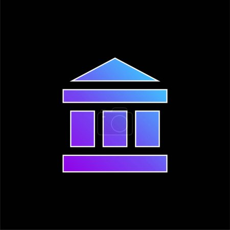 Illustration for Bank blue gradient vector icon - Royalty Free Image